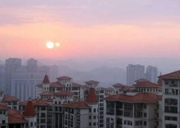 """贵州贵阳天空惊现双太阳 气象专家称其实是""""幻日"""""""