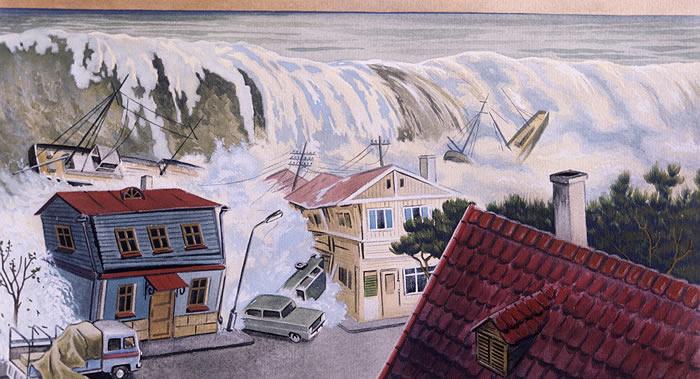 过去66年俄罗斯远东海岸共发生40多起强烈海啸 海浪高度超过15米