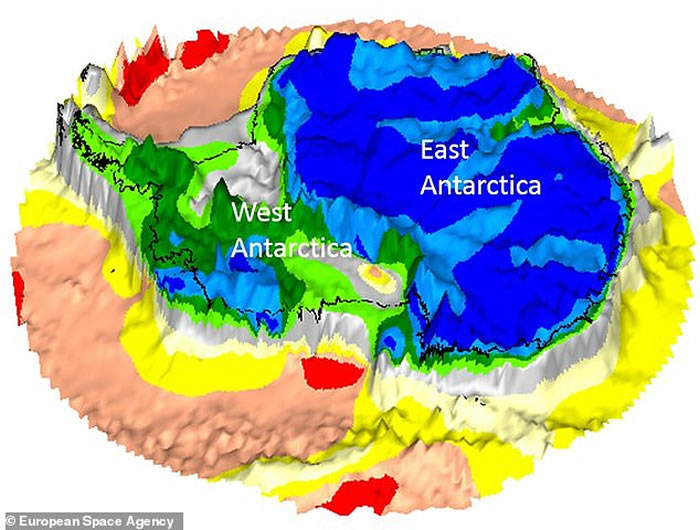 国际科学家团队制作出南极洲冰下部分的准确3D地图