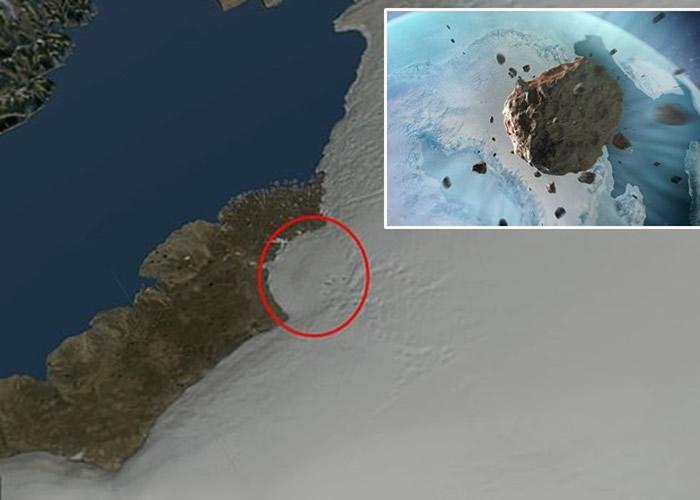 曾有陨石撞击格陵兰冰原。 <br>