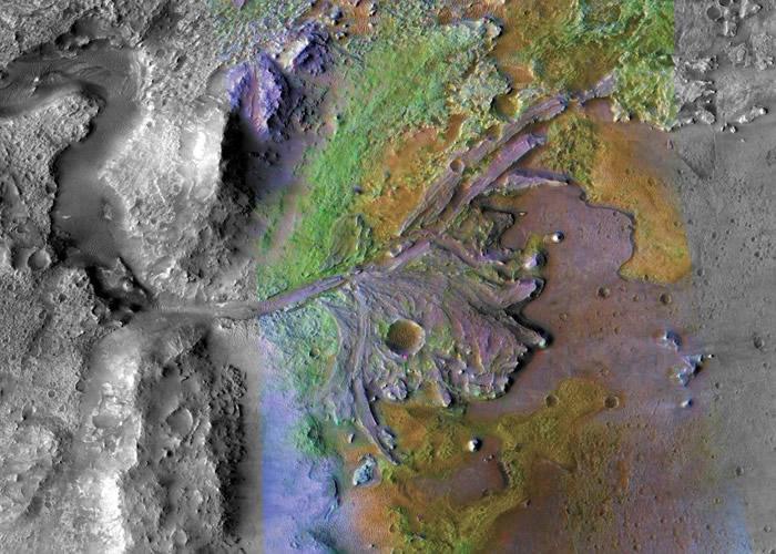 美国太空总署宣布决定以耶泽罗陨石坑作为2020年火星任务的探测车着陆点