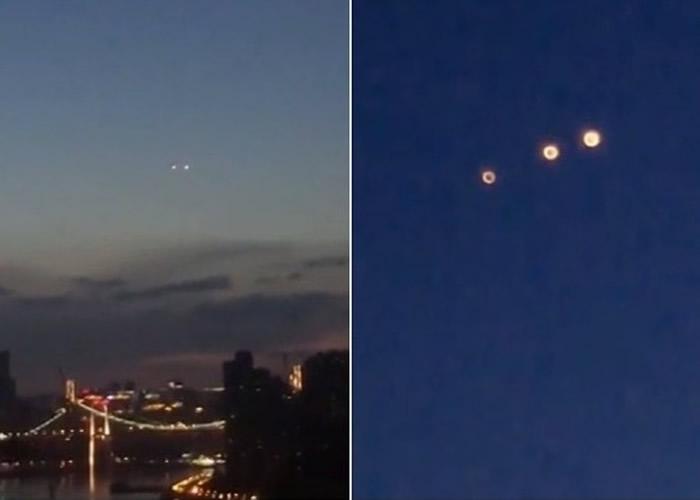 重庆早前曾出现疑似UFO的黄色光球。