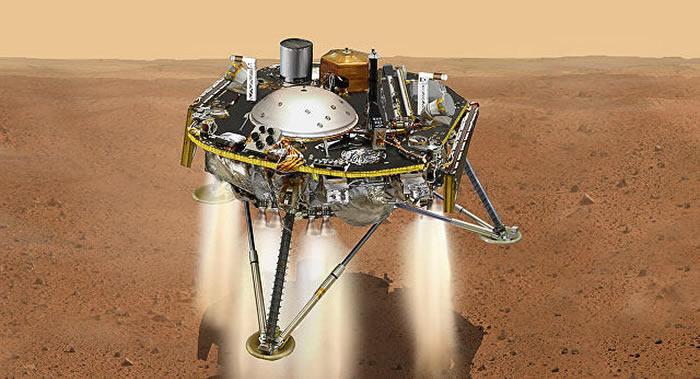"NASA科学家介绍""洞察""号探测器登陆火星初步成果"