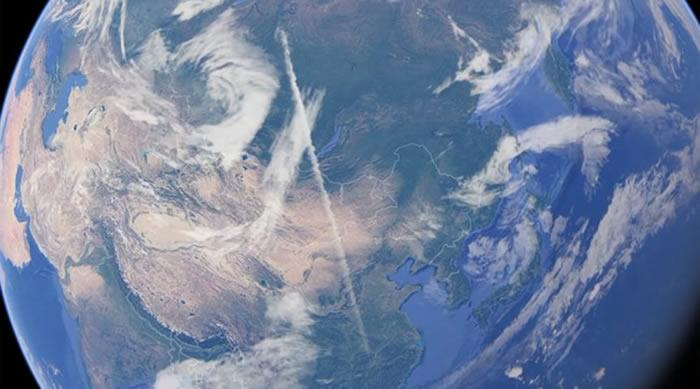 专门从事不明飞行物研究的thirdphaseofmoon称借助谷歌地球发现到访地球的外星人痕迹