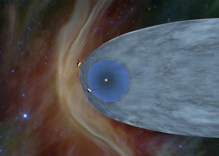 旅行者2号已抵达太阳系外的星际空间。图为构想图。