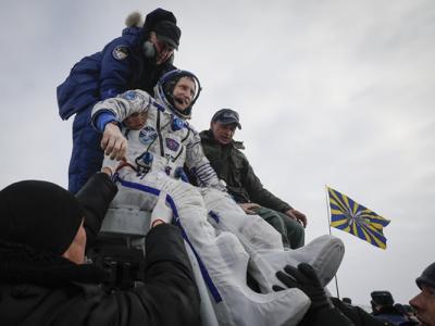 逾半年太空任务完成 俄美德太空人顺利返抵地球