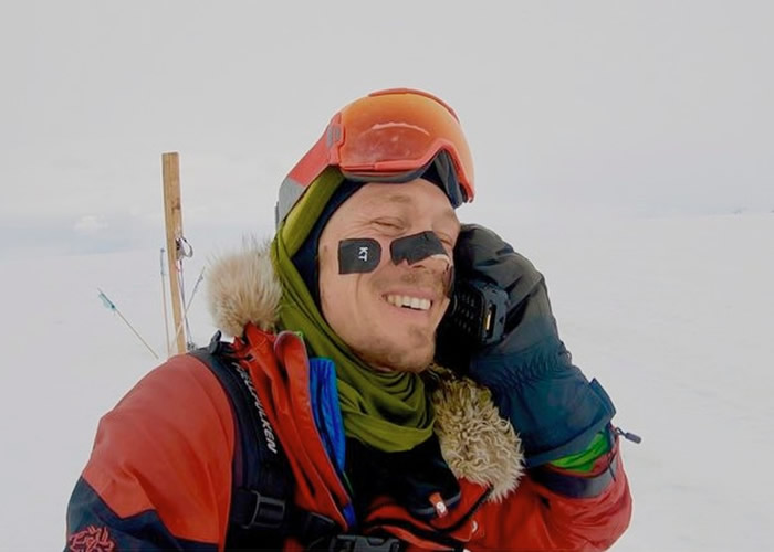 54日走完1600公里 美国冒险家奥布雷迪成独自横越南极洲第一人