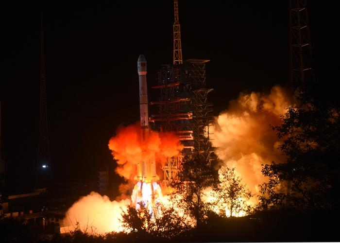 搭载嫦娥四号的长征三号乙改进型运载火箭早前发射升空。