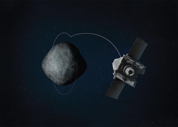 奥西里斯-REx(右)顺利进入小行星贝努(左)的轨道。图为构想图。