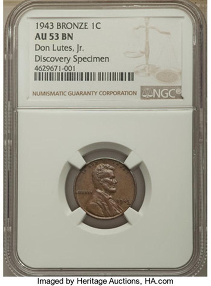 美国16岁少年在学校餐厅买午餐找零中发现1943年发行林肯头像铜板 价值200万美元