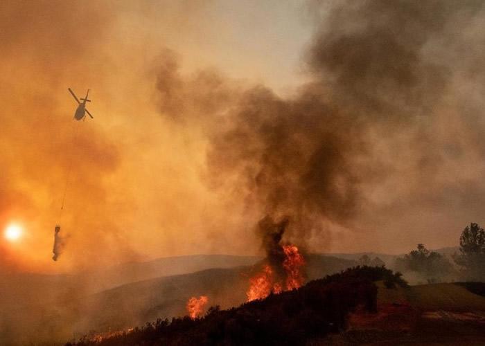 美国连场山火造成严重经济损失。