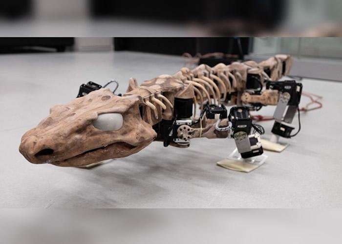 """机器模型""""OroBOT""""重现2.9亿年前远古生物""""Orabates pabsti""""姿态"""