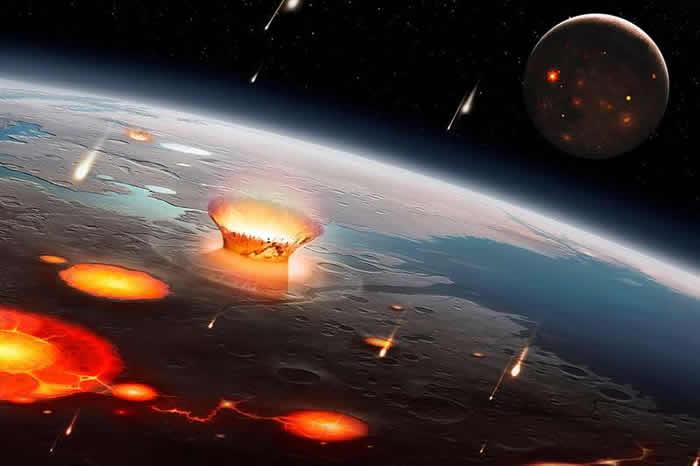 新研究表明从古生代末期开始地球与小行星相撞的机率增加了两倍
