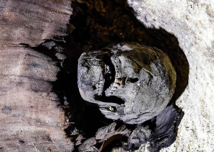 埃及南部发现存有40具木乃伊的古墓