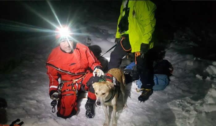 美国犹他州狗狗堕12米冰隙 困8小时奇迹获救与女主人重逢