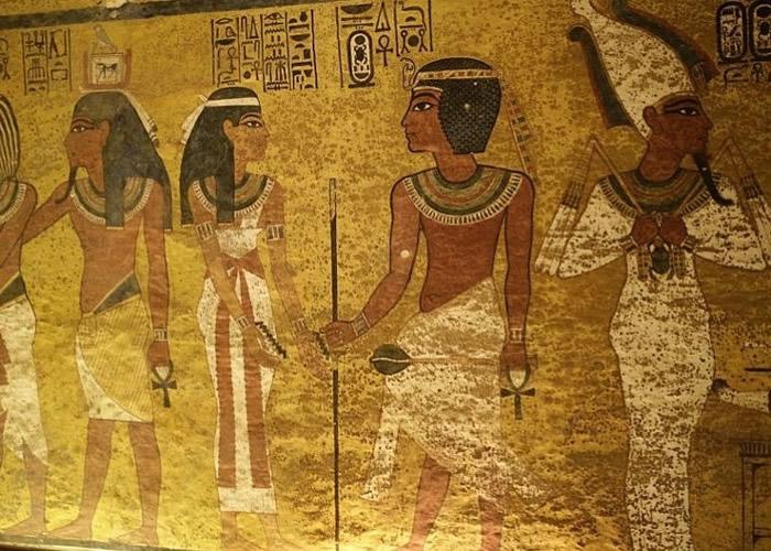 古埃及新王国时期法老王图坦卡蒙诅咒解开?壁画