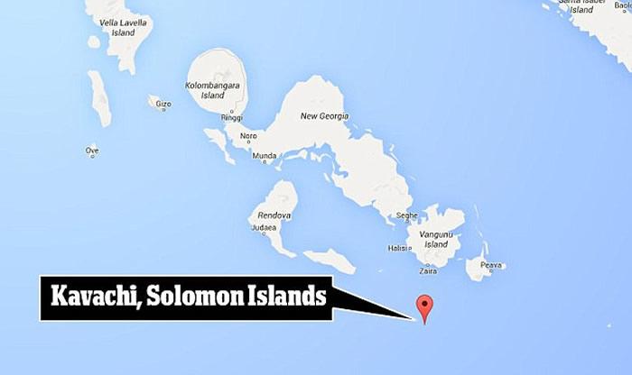 """太平洋所罗门群岛外海世界最活跃海底火山""""卡瓦奇""""附近惊见""""突变""""鲨鱼"""