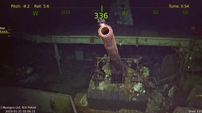 「大黄蜂号」上所搭载的5吋火炮。