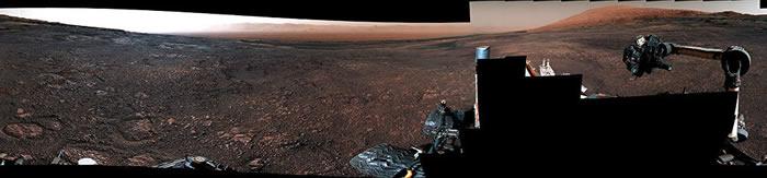 国国家航空航天局公布好奇号火星车拍摄的火星全景视频