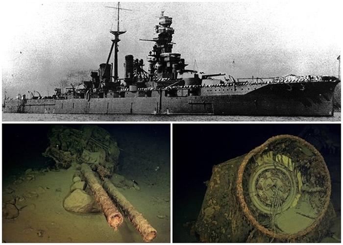 美国调查团队发现比睿号的部分残骸。