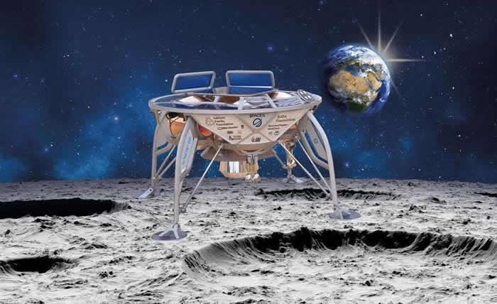 """以色列""""创世纪""""号(Beresheet)月球着陆器从距离地球大约37600千米的地点发送首张图片"""