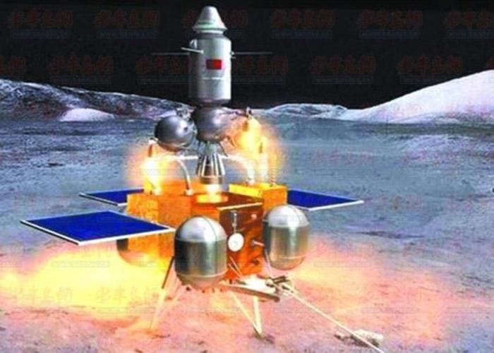 吴伟仁称,当局拟在今年底发射嫦娥五号。图为嫦娥五号模拟月球表面起飞效果。