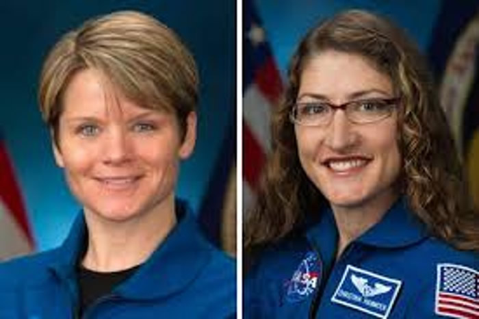 女宇航员麦凯恩(左图)和科赫(右图),将创下全女班太空漫步创举。