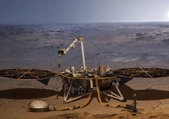 """""""洞察号""""任务是将探测器钻入地底收集数据。"""