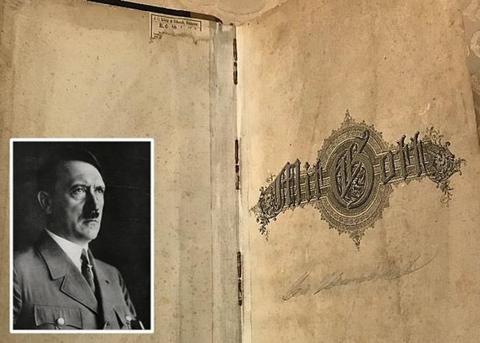 日记内容揭示,希特勒(小图)将大批黄金及艺术品收藏在波兰多个地点。