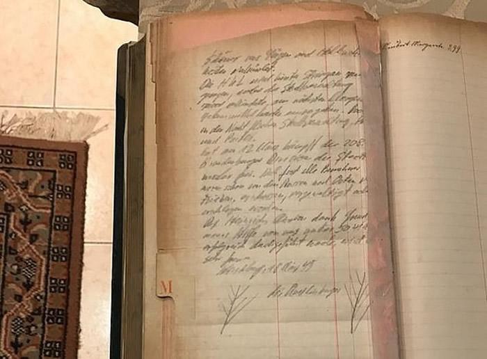 该本纳粹亲卫队的日记曝光。