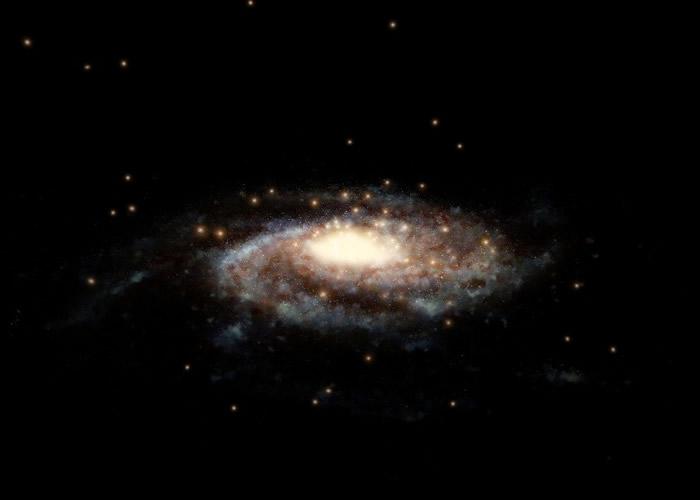 研究透过分析暗物质,更精确计算出银河系的质量。