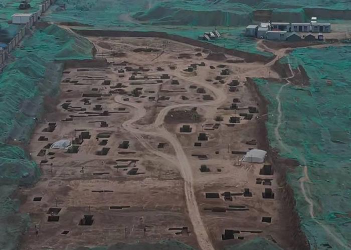 """西安地铁5号线二期地盘发现三秦之一的都城""""废丘""""。"""