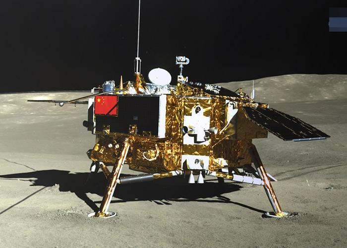 嫦娥四号(图)运载玉兔二号巡视器,于今年初登陆月球背面。