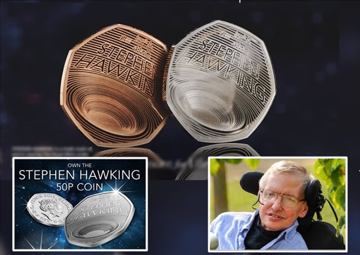 英国皇家铸币厂发行霍金纪念币
