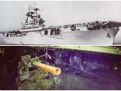 """微软创办人保罗艾伦出资的""""R/V海燕号""""发现二战美国海军胡蜂号"""