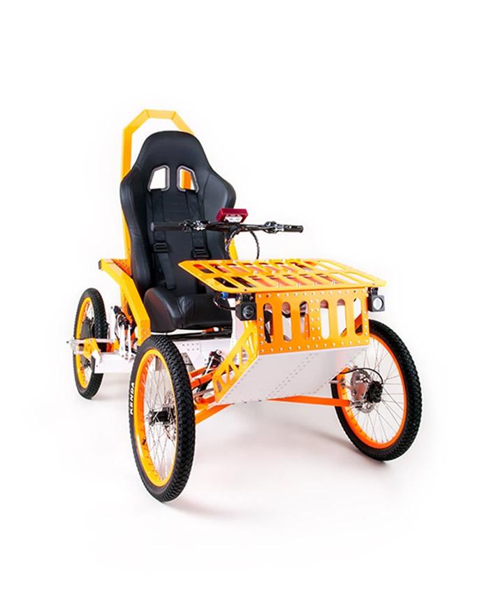 EV4 Mountain Cart为轮椅外形的四轮越野车。