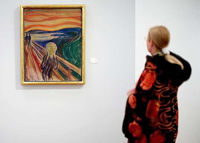 """大英博物馆称挪威画家蒙克著名作品《呐喊》其实是感受到大自然的""""尖叫"""""""