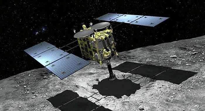 """日本的""""隼鸟2""""号探测器传回的首批数据表明小行星""""龙宫""""非常干燥"""