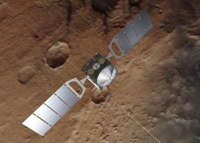 火星快车亦发现甲烷。