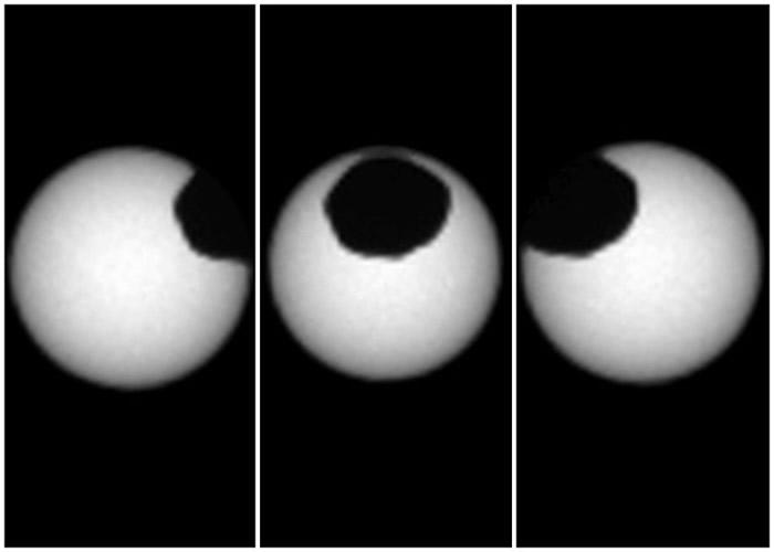 火卫一体积较大,亦较接近火星,但仍无法形成日全食。