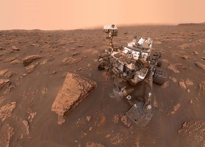 好奇号正在火星进行任务。