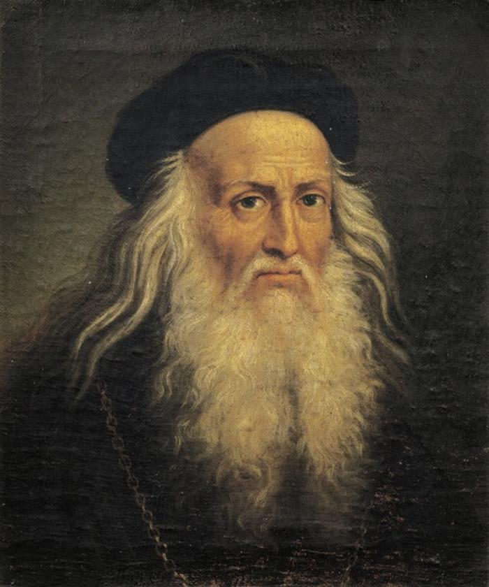 达芬奇以镜像书写。