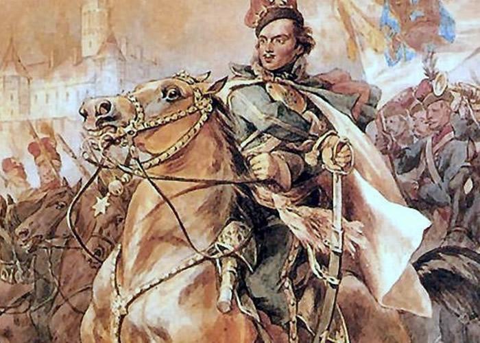 普拉斯基骁勇善战,在独立战争中屡立功绩。