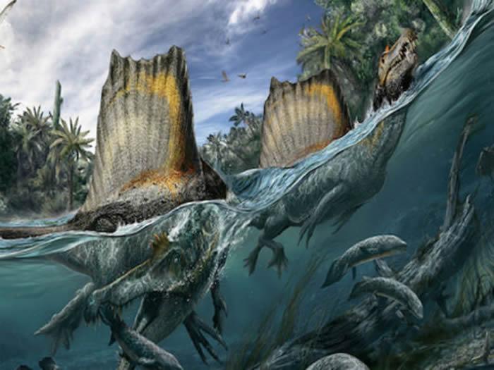 宽幅森林恐龙墙绘