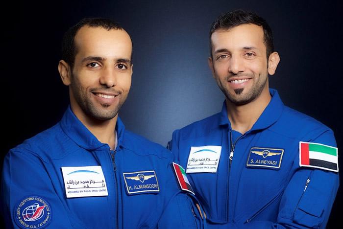 MBRSC宣布已选定Hazzaa Al Mansoori为主要宇航员, Sultan Al Neyadi为国际空间站飞行任务的后备航天员。