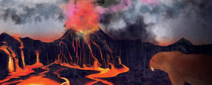 地球有史以来最大规模的生物大灭绝是由火山喷发引起
