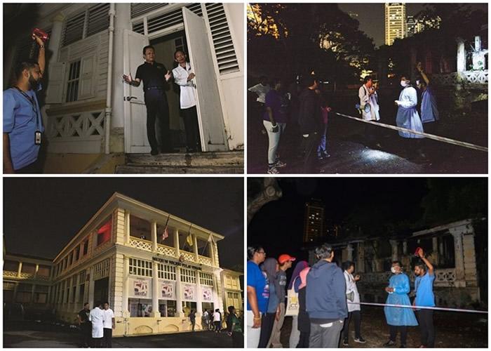 """马来西亚举办第5届""""2日1夜留宿博物馆""""活动 56名挑战者夜探猛鬼博物馆"""