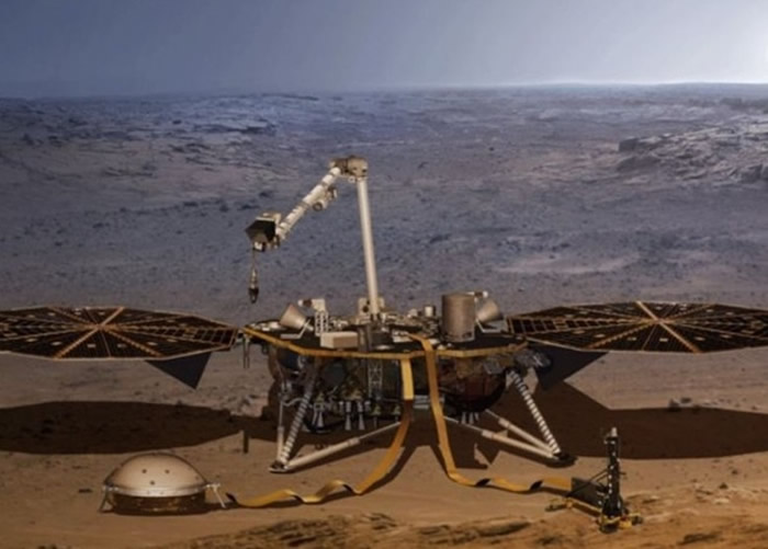 洞察号探测到火星地震的讯号。