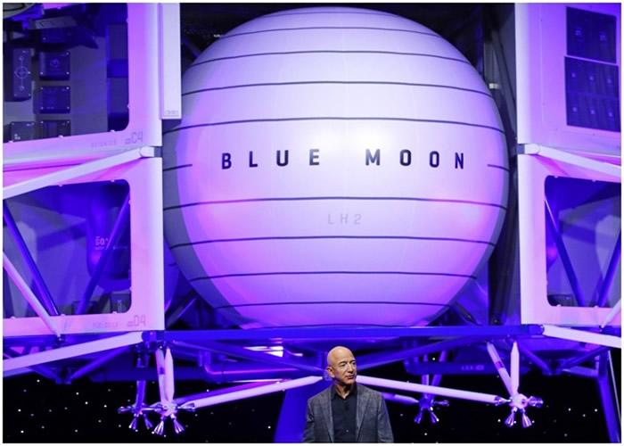 """贝索斯称今次目标是让""""蓝月亮""""留在月球。"""