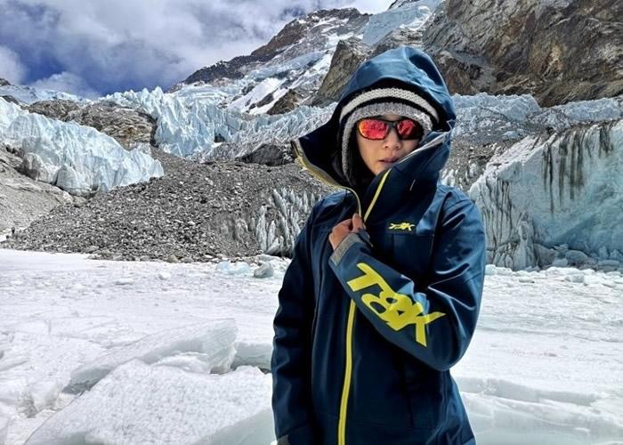 詹乔愉是台湾第二名女子成功登顶珠穆朗玛峰。
